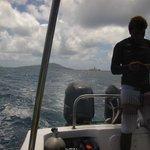 Le bateau après la plongée