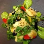 Gnocchi, zucchini, watercress, chili, basil, tallegio