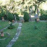 Der Garten vor dem Albergo