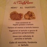The special Truffle Menu