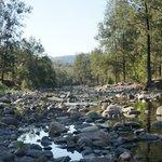 creek flowing through the resort