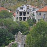 View of Villa Anri from Mostar Bridge