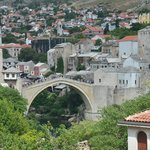 View of Mostar from our balcony