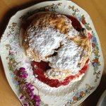 Delicious home-made scones at the old Dinis Cottage Muckross Lake