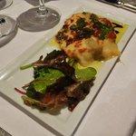 warm artichoke and comte cheese terrine..
