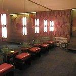 The ladies powder room