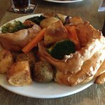 An example of the King Carvery option with the two Yorkshires