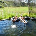 Floating under brilliant sunshine