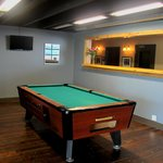 Billiard room next to the lounge