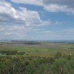 uitzicht over de baai met de oesterbanken