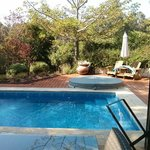 The private pool and jaccuzi