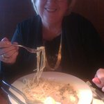 Veal Francese w/past all'olio - superb!