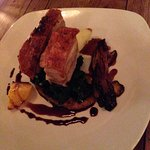 Delicious Pork belly, eagerly devoured seconds later.  Beautifully cooked with perfect crackling