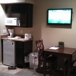 Small kitchenette area in standard room