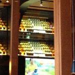 Bar bottle wall