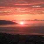 Herrlicher Sonnenuntergang über Trabzon