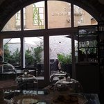 ...im Caffè dell'Arte, Blick zum Garten