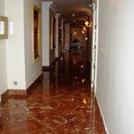 Pasillos del piso de las habitaciones