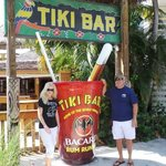 Tiki Bar entrance. A great place to chill. Crab cakes are a hit.