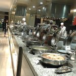 Breakfast buffet - western/asian style food, egg station