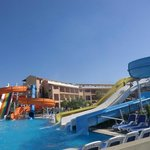 activity pool with slides