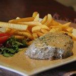 Steak met pepersaus