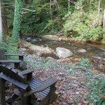 Buffalo Creek runs directly behind their home.