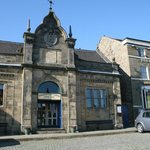 The imposing Market hall on Longnor Market Square.
