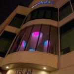 hotel regal I club - facciata - notte