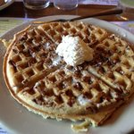 Pecan waffle - loaded with pecans!