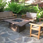 Group seating area with fire pit