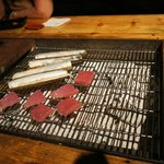 Cooking razor clams and tuna