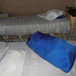 almohada rellena de trozos