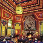 Naniboujou's fireplace in the main dining hall is the largest stone fireplace in the state of Mi