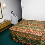 Queen Bed Room With MicroFridge