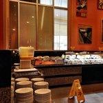 One area of breakfast buffet.