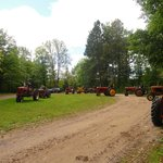 An antique tractor club showed up.  Kinda cool.