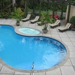 A nice clean pool. Don't forget your swimsuit. It was fun to hop in the hot tub wile it rained.