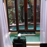 Access to our villas private pool is via our front door and spa is from inside our living room
