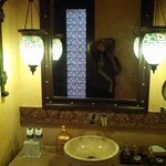 The bathroom fittings and details were like been in Aladin's Cave