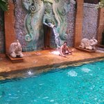 The main pool in the resort again the beauty and size of some of these sculptured pieces are ama