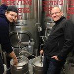 Brewers Filling The First Keg Of Barktoberfest