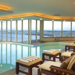 Swimming pool overlooking airport