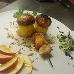 delizie del bosco di casa nostra....specialità assoluta del girasole, patate ripiene con fonduta