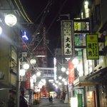hostel's street at night