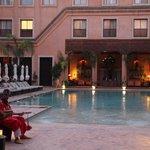main courtyard pool