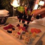 Fantasia di sushi e sashimi
