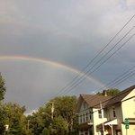 Double Rainbow over the studio