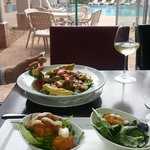 Lunch with pool view