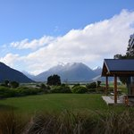 View from the deck looking towards Mt Aspiring National Park